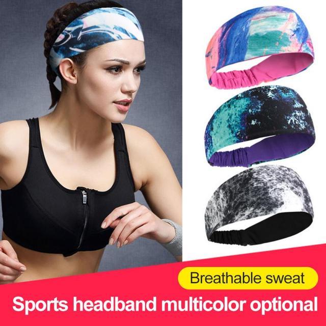 Lycra Sports Headband Breathable Sweat Absorption Antiperspirant Cycling Yoga Belt Basketball Fitness Running Sweat Guide Turban