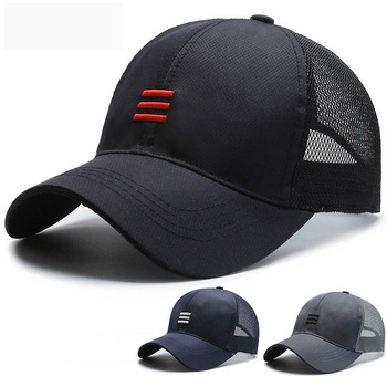 Fashion Three Bars Baseball Cap Women Hat Breathable Men Summer Mesh Caps Gorras