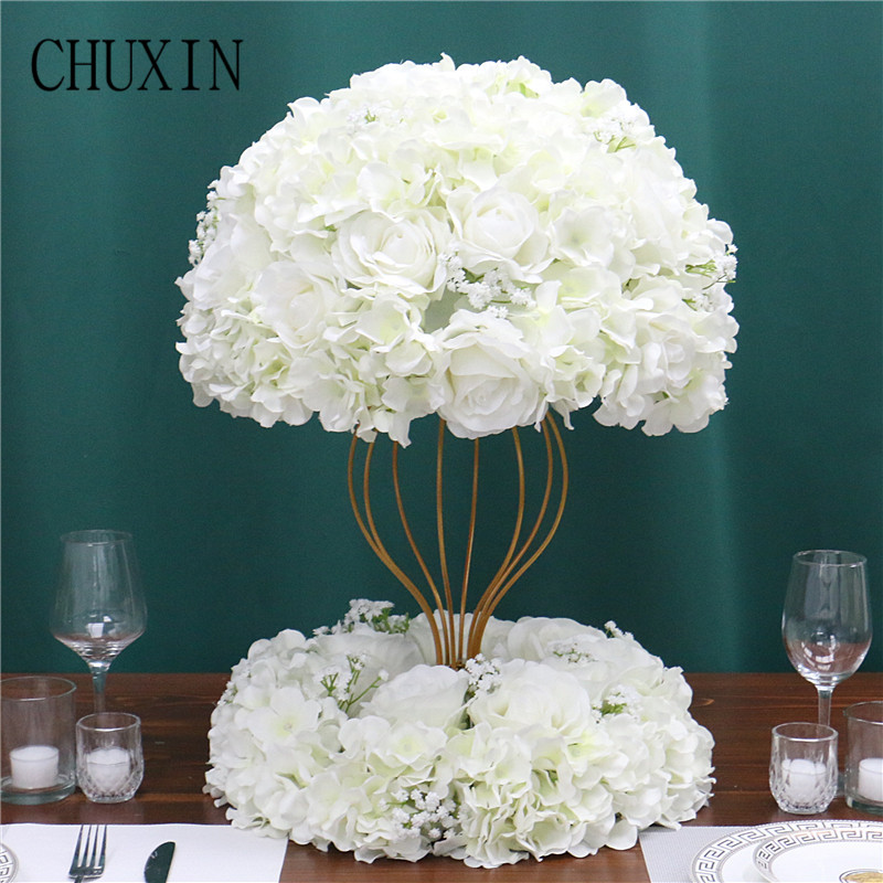Customized artificial Gypsophila rose hydrangea flower ball home festival decoration wedding dining table road lead wreath 1pcArtificial & Dried Flowers   -