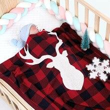 Baby Blanket Kids Winter Spring Soft Cotton Blankets Newborn Baby Swaddle Sleeping Bed Hole Wrap Children Bedding Bath Towels цена