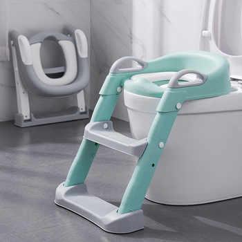Dobrável infantil potty seat mictório encosto cadeira de treinamento com passo banqueta escada para bebê crianças meninos meninas seguro vaso sanitário potties