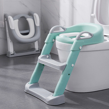 Folding Infant Potty Seat Urinal Backrest Training Chair with Step Stool Ladder for Baby Toddlers Boys Girls Safe Toilet Potties