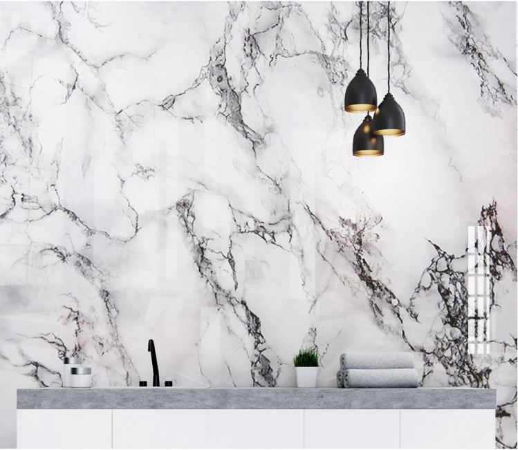 Black White Marble Wallpaper For Bedroom Photo Contact Wall Paper