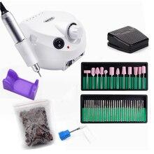 32/20/12 w conjunto de máquina de broca elétrica do prego para manicure pedicure moagem manicure máquina unhas equipamento conjunto prego elétrico kit