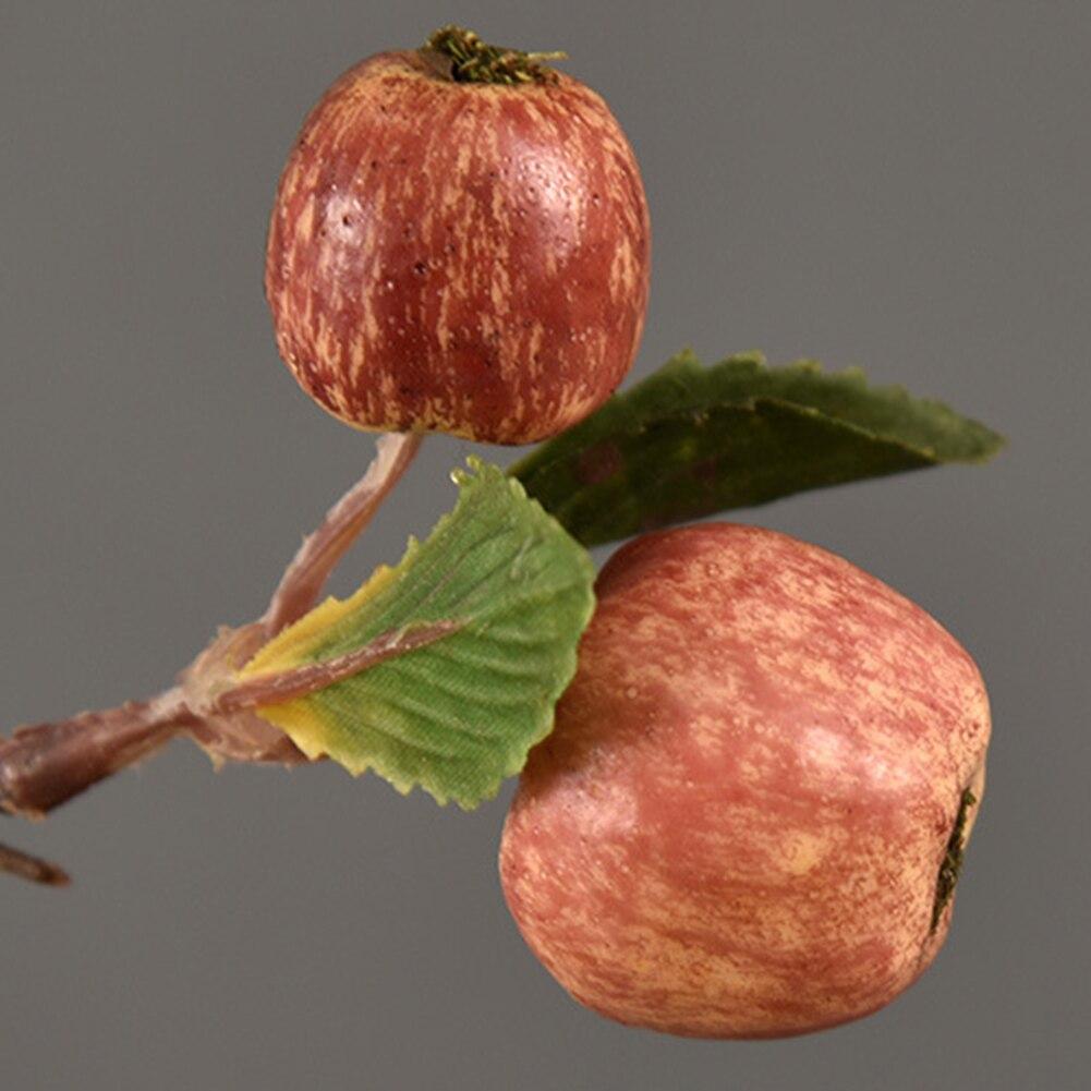 60cm 11 Köpfe Künstliche Mini Äpfel Baum Blume Niederlassung Echt Touch Gefälschte Blumen Simulierte Anlage Hause Garten Hochzeit Dekoration - 6