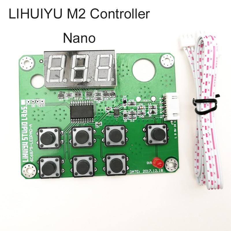 1set LIHUIYU M2 Nano CO2 Laser Control Panel System Engraver Cutter DIY 3020 3040 3050 4060 K40 Mini Rubber Stamp Engraving