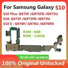 Фабрика разблокирован для Samsung Galaxy S10 S10 плюс S10E G975F G975FD G975U G973F G973FD G973U G970F G970U G970FD 128 ГБ