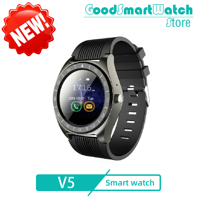 2020 Hot V5 Smart Watch phone support TF SIM card MP3 0.3MP camera Bluetooth Sync Notifier Clock for apple android iOS pk Z6 A1