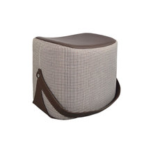 Купить с кэшбэком Chair Sofa Ottoman makeup stool/foot stool/Hi-Q microfiber leather with Cashmere portable stool/shoe ottoman