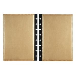 Image 1 - Fromthenon A5 버섯 Discbound 노트북 가죽 커버 8 구멍 느슨한 잎 나선형 플래너 바인딩 커버 사무실 학교 편지지