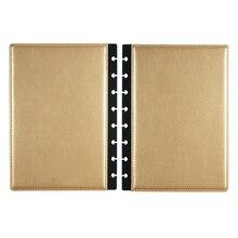 Fromthenon A5 Nấm Discbound Notebook Bao Da 8 Lỗ Rời Lá Xoắn Ốc Lập Kế Hoạch Liên Kết Bao Công Sở Trường Văn Phòng Phẩm