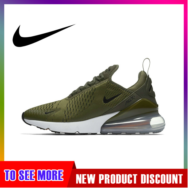 Original Authentic Nike Air Max 270 Men's Running Shoes Sports Outdoor Sneakers Breathable Comfortable Light Running AH8050-201