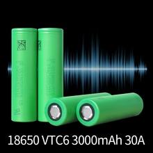 Battery Flashlight 30a-Discharge Rechargeable High-Power Vtc6 18650 3000mah Li-Ion