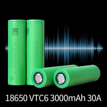 Литий ионный аккумулятор vtc6 18650 37 в 3000 мАч 30 А