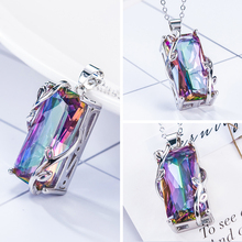 Fashion Women Jewelry Mystic Rainbow Pendant Chain Chocker Necklace Party 2019