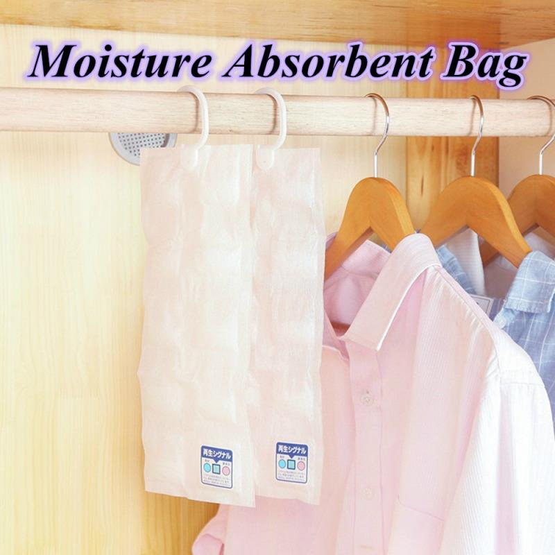 Moisture Absorbent Bag Hanging Wardrobe Hanging Moisture Bag Closet Cabinet Wardrobe Dehumidifier Drying Agent Anti-Mold 10 Pack