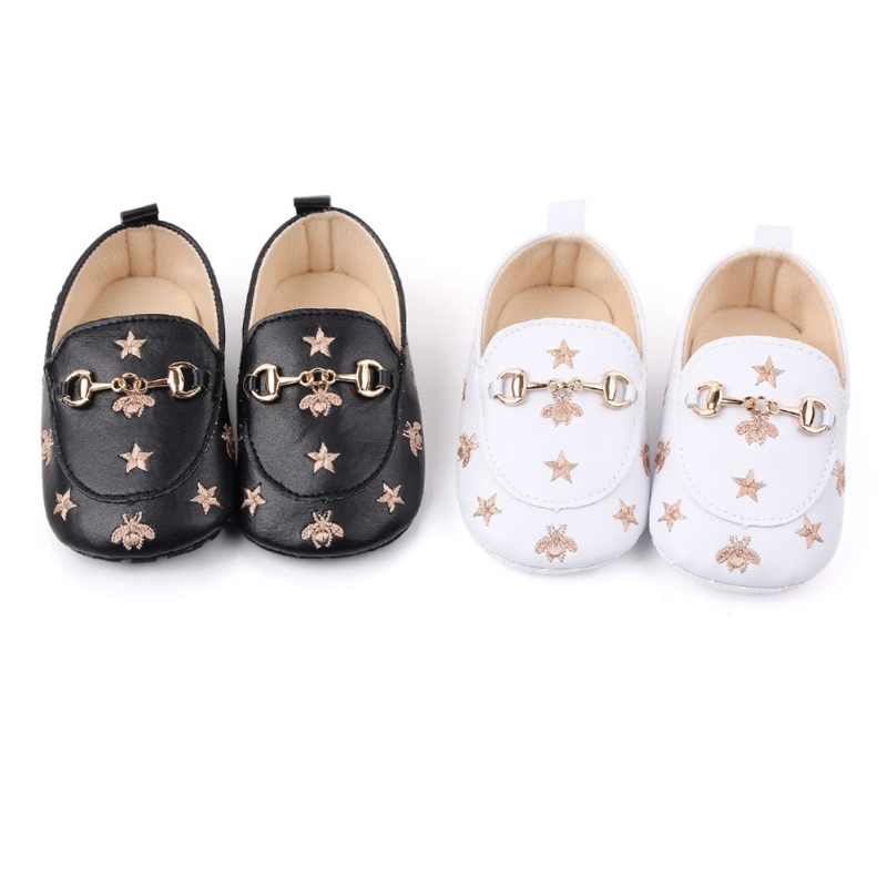 Baby Girl Shoes Infant Cute Print First Walker Shoes Peas Newborn Shoes Baby PU Leather Baby Shoes Soft Bottom Toddler Shoes