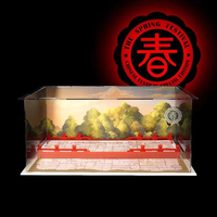 Acrylic Display Box Dustproof Display Box Show Box For Lion Dancing 80104 (Display Box Included Only, No Kit) For Kids Toys Gift