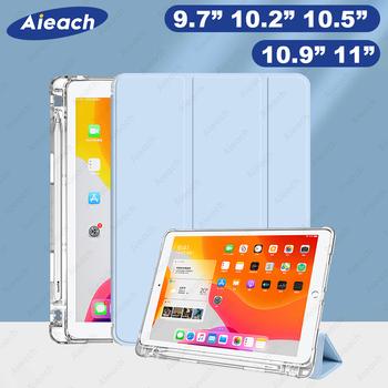 Dla iPad 7th 8th generacji etui z pojemnik na ołówki etui do ipada 10 2 2019 2020 9 7 2017 2018 Air 1 2 3 4 Pro 11 2021 10 5 przypadku tanie i dobre opinie AIEACH Składane etui CN (pochodzenie) For iPad 10 2 2019 2020 Stałe 25 5cm Dla apple ipad iPad 9 7 cala z 2017 roku moda