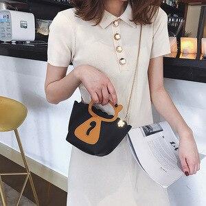Image 2 - 개별 고양이 체인 미니 캐주얼 가방 한국어 스타일의 새로운 스타일의 단일 어깨 싱글 어깨 가방.