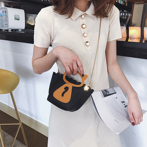 Image 2 - Individual cat chain mini casual bag Korean style new style single shoulder single shoulder bag.