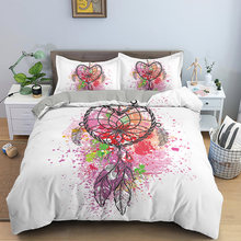 Богемное одеяло с принтом Ловец снов Королевский размер богемное