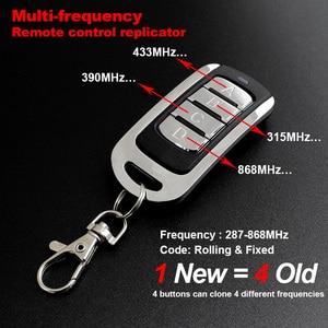 Image 4 - Télécommande de Garage 433mhz 300/315/390/418/868mhz contrôleur de porte télécommande porte clés commande ouvre porte émetteur duplicateur