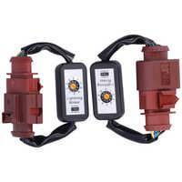 Auto zubehör Signal Lampe LED Rückleuchten Dynamische Blinker Adapter Harness Blinker Modul Kits Fit für A4 S4 B 8,5
