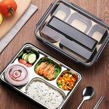 Pudełko na lunch ze stali nierdzewnej dla dzieci japoński pojemnik na przekąski izolowany pojemnik na posiłek pojemnik na jedzenie przechowywanie szczelny pojemnik bento