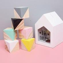 50 мм деревянные блоки Разноцветные кубики для художественных
