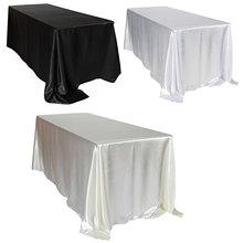 1 шт. атласная Скатерть прямоугольный банкетный стол в гостинице ткань для свадебной вечеринки Рождественская скатерть украшение дома