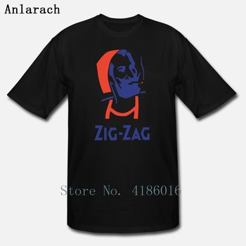 Zig Zag Weed Stoner Rolling Hippie T Shirt Printing Interesting Letters Homme Summer Style Plus Size 5xl Cotton Comical Shirt
