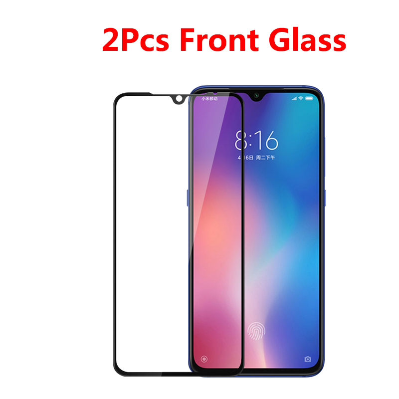 2 in 1 Full Cover Tempered Glass For Xiaomi Mi A3 Lite Back Camera Lens Screen Protector Glass For Xiaomi Mi A3 Camera Lens Film