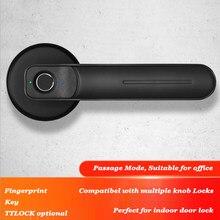 Fechadura de impressão digital inteligente à direita aberta esquerda porta usb fechadura da porta aberta chave mecânica desbloqueio ttlock bluetooth lock office lidar com bloqueio