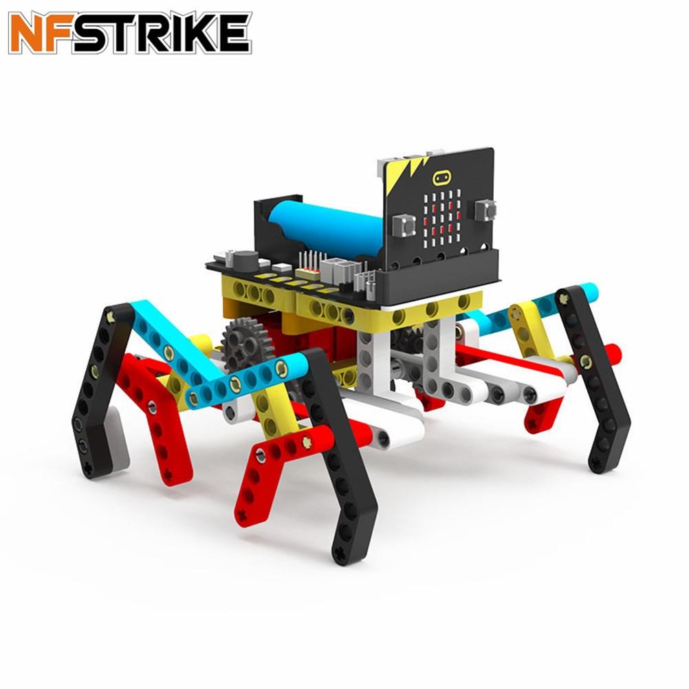 Program Intelligent Robot Kit Steam Programming Education Building Block Spider For Micro:Bit Programable Toys For Men Kids
