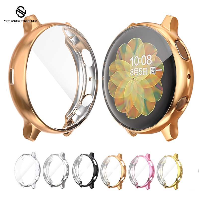 Protective Case For Samsung Galaxy Watch Active 2 44mm 40mm SM-R830 R820 Silicone HD Full Screen Protection Cover Case