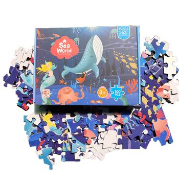 100 sztuk dzieci dinozaur Puzzle edukacyjne Cartoon Puzzle gry dla dzieci zabawki spersonalizowany prezent Puzzle prezent dla dzieci urodziny tanie i dobre opinie CN (pochodzenie) Unisex 5-7 lat 8-11 lat 12-15 lat 6 lat 8 lat Papier NONE Spersonalizowana łamigłówka Not Eating