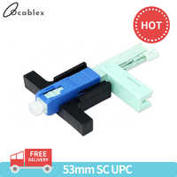 Best Price 100 PCS SC UPC Fast Connector Single-Mode Connector FTTH Tool Cold Connector Tool Fiber Optic Fast Connnector 53mm