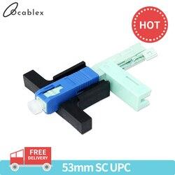 Beste Prijs 100 PCS SC UPC Snelle Connector Single-Mode Connector FTTH Tool Koude Connector Tool Glasvezel Snelle connnector 53mm