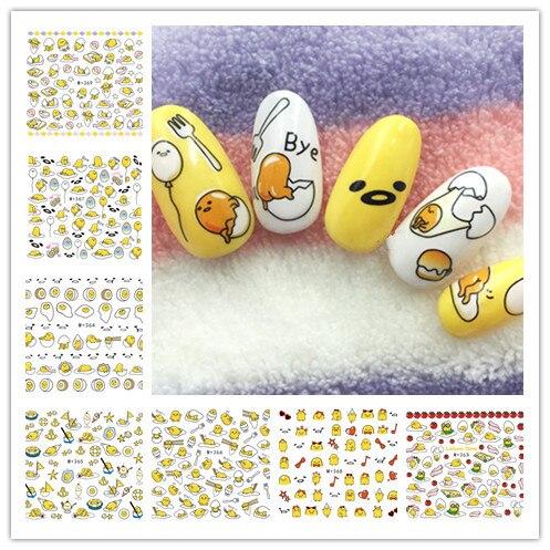 M+ 362-369 стиль Японский Корейский водяных знаков клей Бумага желток король ногтей Стикеры Южная Корея Gudetama ногтей Стикеры s