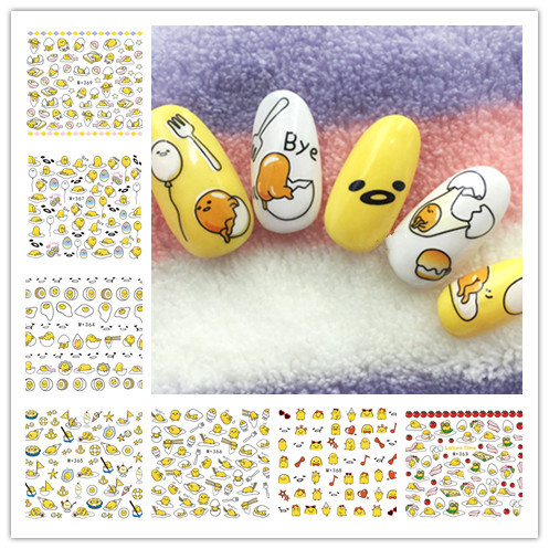 M + 362-369 New Style Japanese Korean Watermarking Adhesive Paper Yolk King Nail Sticker South Korea Gudetama Nail Stickers
