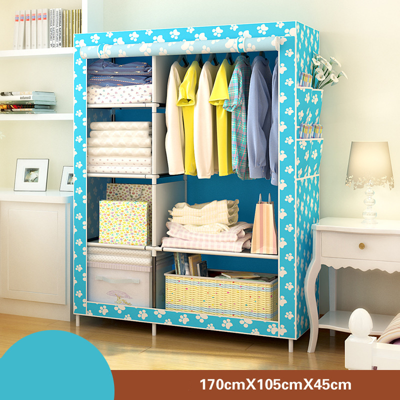 Image 4 - Bedroom Furniture Wardrobe Bedroom Cabinet Cloth Room Storage Assembly Multifunction Simple And Modern Furniture Closet JC042Wardrobes   - AliExpress