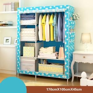 Image 4 - Chambre meubles armoire chambre armoire tissu chambre stockage assemblée multifonction Simple et moderne meubles placard JC042