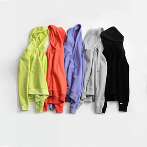 Image 5 - Toyouth 캔디 컬러 여성 후드 및 스웨터 형광 노란색 단색 긴 소매 후드 트랙 수트 여성상의