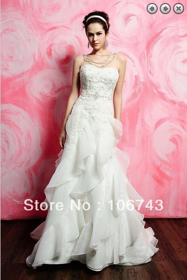 Free Shipping 2018 Bridal Brides Gown Vestidos Formales Long Plus Size Organza Lace Applique Beaded Mother Of The Bride Dresses