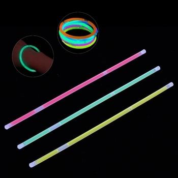 Multi Color Fluorescence Light Glow Sticks Bracelets Neon Necklaces Rally Raves L4MC party glow bangle fluorescence light glow bracelets necklaces neon wedding christmas party glow bangle bright colorful bangle