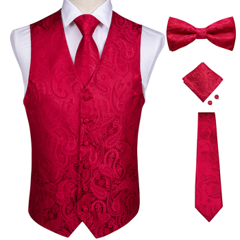 Men's Formal Silk-Suit Vest