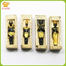 2019 new Egyptian series home decoration ornaments mummy candle  silicone mold animal face