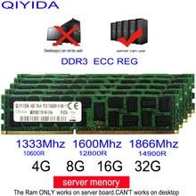 Ddr3 GB GB 16 8 4GB 4G 8G 16G 32G DDR3 10600R 12800R 14900R ECC REG 1600Mhz 1866Mhz 1333Mhz de memória RAM Do Servidor suporte X58 X79 X99