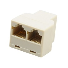 цена на 2pcs Network tee 1 / 2 RJ45 8-core network cable extension connector connector adapter adapter